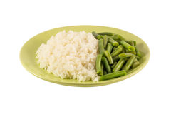 Rice and green beans Stock Photo