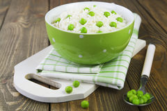 Rice with green peas Stock Photography