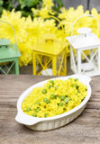 Rice with green peas, popular indian dish Royalty Free Stock Photo