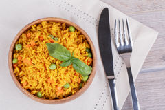 Rice with green peas Stock Image