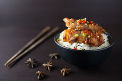 Rice with grilled pork. Thai style Royalty Free Stock Images