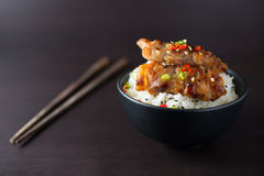 Rice with grilled pork. Thai style Royalty Free Stock Image