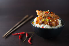 Rice with grilled pork. Thai style Stock Images