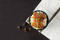 Rice with grilled pork. Thai style Royalty Free Stock Photos