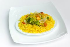 Rice with grilled vegetables Stock Photo