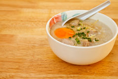 Rice gruel. Is a healthy food Royalty Free Stock Image