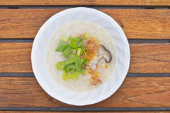 Rice gruel with mushroom Royalty Free Stock Images
