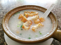 Rice gruel. Traditional chinese porridge rice gruel Stock Images