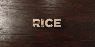 Rice - grungy wooden headline on Maple - 3D rendered royalty free stock image. This image can be used for an online website banner ad or a print postcard vector illustration