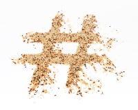 Rice Hashtag royalty free stock photos