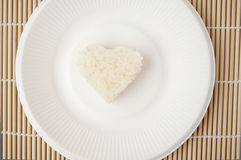 Rice heart shape Stock Photo