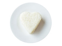 Rice heart shape Royalty Free Stock Photo