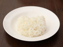 Rice heart shape Stock Image