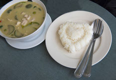 Rice heart. In some thai restaurant Stock Photography