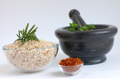 Rice with Herbs Royalty Free Stock Images