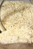 Rice hessian glass jar Stock Photos
