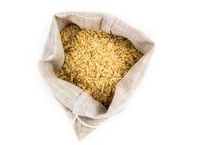 Rice i en säck Arkivbilder