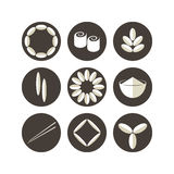 Rice. Icon set Royalty Free Stock Photography