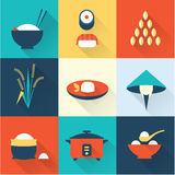 Rice icons Royalty Free Stock Photos