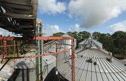 Rice industry silos. On Brazil Stock Photos