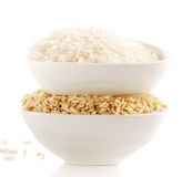Rice isolated on white Stock Photography