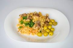 Rice, jedzenie, gość restauracji, naczynie, kuchnia, kultura Zdjęcia Royalty Free