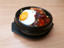 Rice Kamameshi  Bibimbap Stock Photos