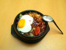 Rice Kamameshi  Bibimbap Royalty Free Stock Photos