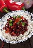 Rice and kidney beans Stock Photo
