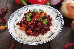 Rice and kidney beans Royalty Free Stock Photos