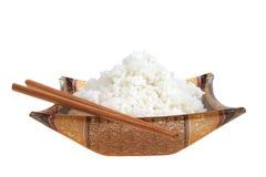 rice klibbar white Royaltyfri Foto