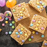 Rice Krispies Treats With Candy Stock Photography