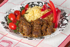 Rice and lamb stew with vegetables Stock Photo