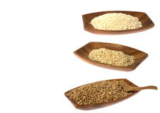 Rice and lentils Stock Image
