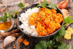 Rice and lentils, indian dish Royalty Free Stock Photo