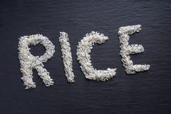 Rice literował out Zdjęcie Royalty Free