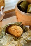 Rice of lotus leaf pearl shell dishes in Vietnam restaurant Royalty Free Stock Photography