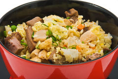 Rice with meat Stock Photos