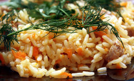 Rice with meat Royalty Free Stock Photography