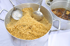 RICE MEAT Stock Photo