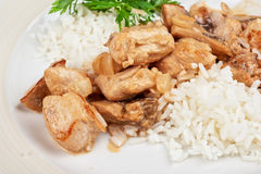 Rice with meat Stock Images