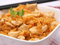 Rice with meat Royalty Free Stock Photo