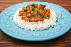 Rice with meat in tomato sause Royalty Free Stock Photos