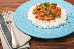 Rice with meat in tomato sause Stock Photography