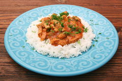 Rice with meat in tomato sause Royalty Free Stock Photography
