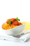 Rice with Meatballs Stock Image