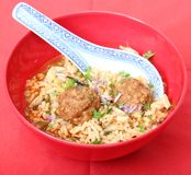Rice with meatballs Royalty Free Stock Photography