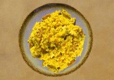 Rice med meat Arkivfoton