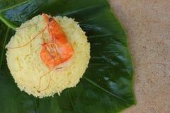 Rice med räkan Fotografering för Bildbyråer