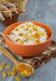 Rice med torkat - frukt arkivbilder